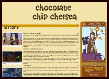 Screenshot of Chelsea's page demonstrating a hero box.